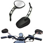 Motorcycle Rear View Mirrors Edge Cut for Harley Touring Sportster 883 Black