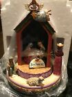 Jim Shore Come And Behold Him Nativity Lighted Revolving Musical NIB