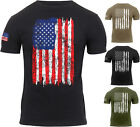 Mens US Flag Athletic T Shirt Muscle Build Tactical Tee American Patriotic USA