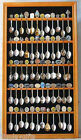 60 Spoon Display Case Rack Holder Cabinet Shadow Box Wall Rack LOCKABLE SP02-OA