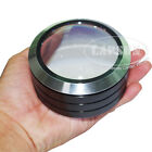 Big Size 70mm Dome 5X Glass Optical Table Magnifier LED Craft Coin Stamp Loupe