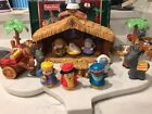 Fisher Price Little people christmas story set nativity scene COMPLETE