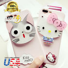 Lovely Cute hello kitty cat mirror soft case cover for apple iPhone 8 7 Plus