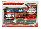 Diecast Mini Car Military Police Fire Station Rescue Team Miniature Toy Play Set