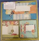 Basic Grey Scrapbook Kit 12x12 One Two Page  Two One Page Layouts Cards