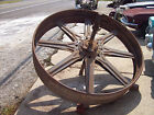 Antique Giant 5' Steel Wheel Grist Mill Pulley Vintage Steampunk Wythe Co. Table