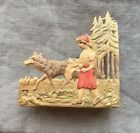 Antique, Red Riding Hood, Balsawood Front Matchbox