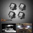 2 Pair Spreader LED Deck Marine Lights Fishing Lamp For Boat Flood12V 24V 18W