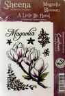 CRAFTERS COMPANION EZ Mount STAMPS Magnolia Blossom Flowers Cling Rubber 7p Set