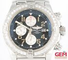 Breitling Super Avenger A13370 48mm Stainless Steel Parts As-Is Broken Missing