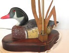 Duck Decoy Lamp,Vintage, Base, with Shade H Heap III Approx. 16