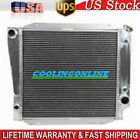 4Row Aluminum Radiator For Ford Bronco Wagon  Roadster 50L 302 V8 1966 1977 CL