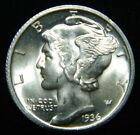 1936 D Mercury Dime (Full Split Bands) GEM