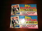 ( 2 ) 1989 Topps Traded Baseball Factory Sealed Set