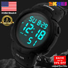 SKMEI  Mens/Womens Large Face Digital Sports Watch Waterproof Military Stopwatch
