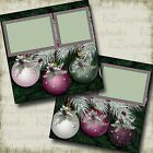 Purple Christmas 2 Premade Scrapbook Pages EZ Layout 2883