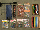 Large lot of marbles in original packages, Vitro, Marble King, marble games