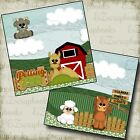 Petting Zoo NPM 2 Premade Scrapbook Pages EZ Layout 2284