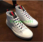Men genuine Leather Embroidery Sport Sneakers Shoes Ankle Boots Trainers US 10