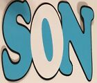 Son Name Title Die Cut Embellishment Handmade With CardStock