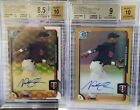 2015 Bowman Chrome Auto Nick Gordon SUPERFRACTOR BGS 8.5 & Gold Refractor...1 1