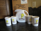 Fiesta Looney Tunes Tweety Bird pitcher 4 tumblers boxed set