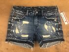 NWT LADIES REMIX ROCK REVIVAL JEAN SHORTS DESTROYED VINTAGE RX8052RH77 SIZE 26