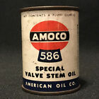 Old Amoco 586 Gas Station Valve Oil American Oil Co Tin Bank East Akron OH Ohio