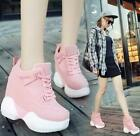 Womens High top Heels Platform Casual Canvas Sneakers Shoes US6 Pink Zseller
