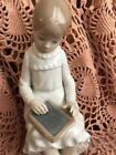 LLADRO NAO 117 Girl Writing on Chalkboard Retired Mint Condition! No Box! L@@K!