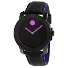 Movado Women's 3600482 Bold Black Leather Watch