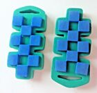 Chunky Stamps CHECKER BOARD foam mounted rubber stamp set of 2