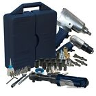 62 Piece Air Tool Kit Air Ratchet Hammer Impact Wrench Parts Set Storage Case