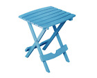 Outdoor Side Table Pool Blue Resin Plastic Foldable Patio Camping Tailgating