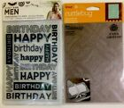 Lot Crafters Companion Cuttlebug Men Birthday  Anna Griffin Embossing Folders