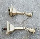 Crafts Mission Style Square Brass Antique Light Fixture Wall Sconce
