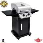 2 Burner Cabinet Gas Grill Propane Barbecue Cooking Outdoor Backyard Stainless