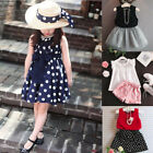 Kids Girls Sundress Summer Vest Outfits Pants Clothes Children Skirt Clothing