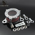 Chrome Air Cleaner Intake Filter System Fit Harley Sportster XL 883 1200 2004 UP