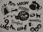 18 piece CAT theme words and confetti scrapbook die cuts greeting die cut