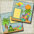 Florida 2 Premade Scrapbook Pages EZ Layout 533