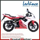 YAMAHA TZR 50 2006 06 LEOVINCE EXHAUST FULL SYSTEM X-FIGHT BLACK STEEL 3282B