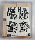 Stampin Up Alphabet Soup Rubber Stamp Set of 4 NEW 2006 Sale A Bration