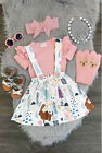 US Stock Newborn Baby Girls T shirt Tops Dress Outfit Set Toddler Casual Dresses