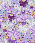 ORCHIDS Purple Kaffe Fassett Fabric By the Half Yard