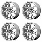 4x Motegi 19x10 MR120 Techno Mesh S Wheels Race Silver 5x475 5x12065 +79mm