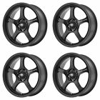 4x Motegi 17x7 MR131 Wheels Satin Black 5x100 PCD +45mm Offset 577BS