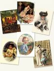 Victorian Trading Co Blank Note Card Assortment Vintage Art Pack of 8