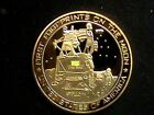 Apollo 11 Moon Landing Armstrong Aldrin Collins Gold Plated Challenge Coin