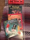 3 Piece Chriistmas Book and Cassette  set Frosty The Snowman, Thr Night Before